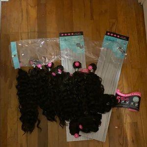 10 piece bundles set / hair extensions set.